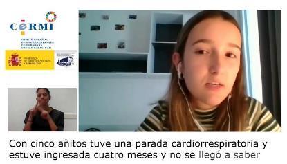 Claudia Perucha, estudiante universitaria con discapacidad