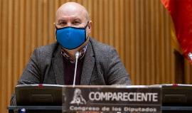El presidente del CERMI, Luis Cayo Pérez Bueno, en su comparecencia ante la Comisión de Derechos Sociales y Políticas Integrales de la Discapacidad del Congreso de los Diputados