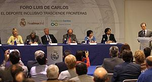 Un momento del Foro Luis de Carlos, en el que participó Pilar Villarino