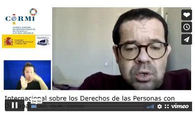Jesús Martín Blanco, delegado del CERMI para los Derechos Humanos y la Convención Internacional de la Discapacidad