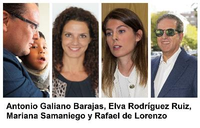 Antonio Galiano, Elva Rodríguez, Mariana Samaniego y Rafael de Lorenzo
