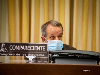 El Defensor del Pueblo (e.f.), Francisco Fernández Marugán, en el Congreso de los Diputados