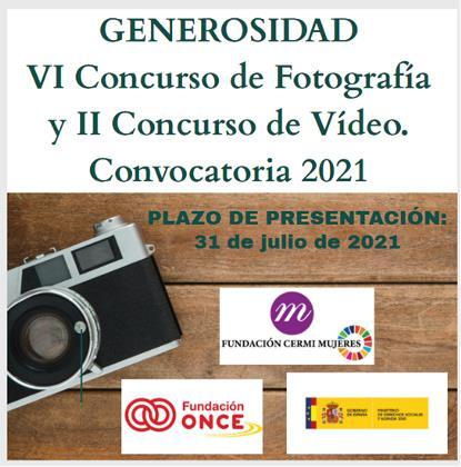 Convocados los premios del concurso de fotografía y vídeo 'Generosidad' de la Fundación CERMI Mujeres