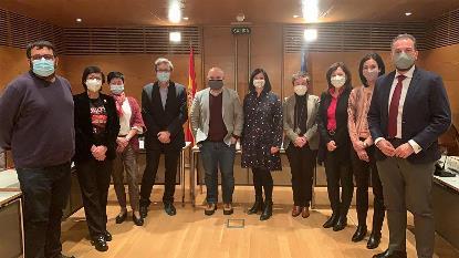 el presidente de CERMI Estatal, Luis Cayo Pérez Bueno, acompañado en el Senado, por su comparecencia ante la Ponencia de estudio sobre el proceso de envejecimiento en España