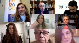 Imagen durante el conversatorio Lecciones aprendidas para la discapacidad: El Sistema Nacional de la Salud tras la pandemia
