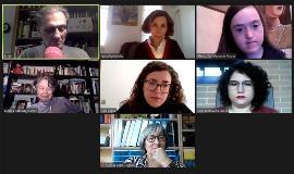Imagen de todos los participantes durante el conversatorio