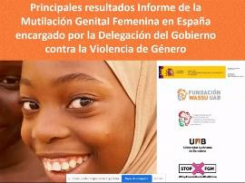 Imagen del Informe de la Mutilación Genital Femenina en España, encargado por la Delegación del Gobierno contra la Violencia de Género