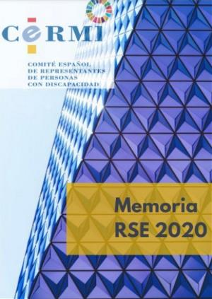 Portada de la Memoria RSE CERMI 2020
