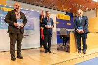 Imagen de la presentación del acuerdo entre CERMI y Enaire.