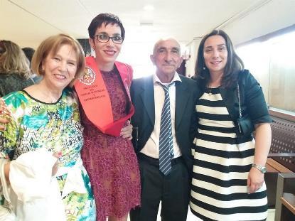 Ángeles Blanco, responsable de Derechos y Asesoría Jurídica en Confederación Aspace, en su graduación