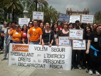 Manifestación de ECOM en 2012.