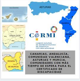 Canarias, Andalucía, Comunidad Valenciana, Asturias y Murcia, comunidades con más tiempo de espera para el certificado de discapacidad