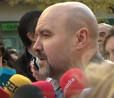 Luis Cayo Pérez bueno, durante su participación en la marcha
