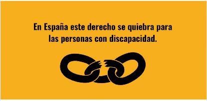 En España este derecho se quiebra para las personas con discapacidad