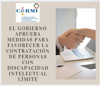 Infografía El Gobierno aprueba medidas para favorecer la contratación de personas con discapacidad intelectual límite