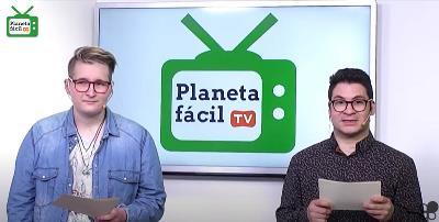 Eva Expósito y Simón Marco, presentadores de Planeta Fácil TV