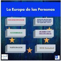 Imagen con palabras y asuntos clave sobre la Europa de las personas
