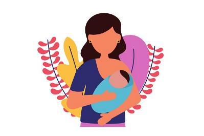 """Imagen sobre la maternidad de la """"Guía para el acceso a la salud y a la atención sanitaria de las mujeres y niñas con discapacidad"""""""