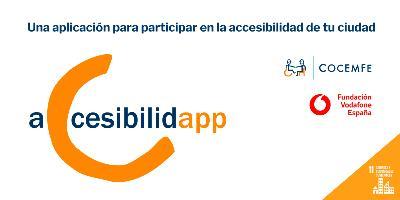 Cartel de la app Accesibilidad de Cocemfe.