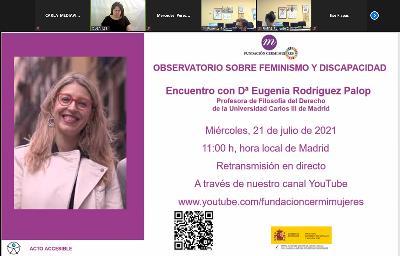 Imagen durante el IV Encuentro del Observatorio sobre Feminismo y Discapacidad, de Fundación CERMI Mujeres