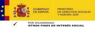 Logo del Ministerio de Derechos Sociales y Agenda 2030. Por solidaridad. Otro fines de interés social