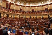 Detalle del hemiciclo del Congreso de los Diputados