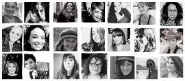 Collage de fotos del blog 'Con P de Párkinson' con el rostro de varias mujeres