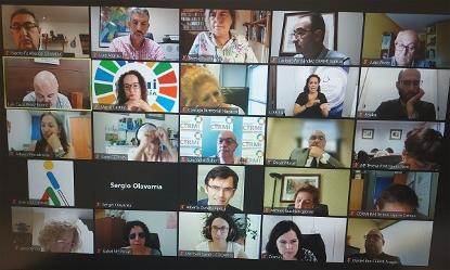 Momento de la celebración online de la VIII Conferencia CERMI Territorios