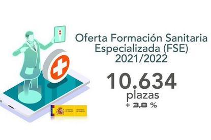 Ilustración sobre la oferta de plazas de formación sanitaria especializada, publicada en la web de La Moncloa