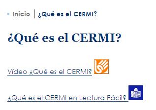 Imagen del acceso a lectura fácil en contenidos de la web del CERMI
