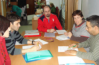 Basilio García, en una reunión en ACEFEP