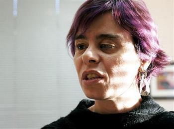 Virginia Carcedo, en un momento de la entrevista