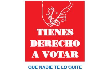 """Imagen de la portada de la publicación del CERMI """"Tienes derecho a votar: que nadie te lo quite"""""""