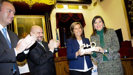 El President de la Generalitat, Alberto Fabra, el presidente del CERMI, Luis Cayo Pérez Bueno, la Ministra de Sanidad, Servicios Sociales e Igualdad, Ana Mato y la Alcaldesa de Elche, Mercedes Alonso