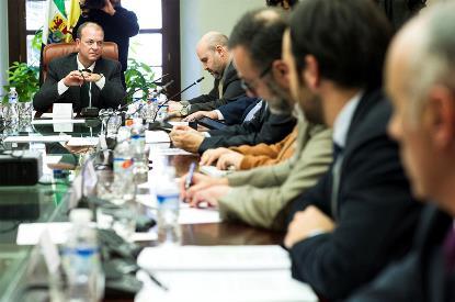 Reunión del presidente Monago con el CERMI