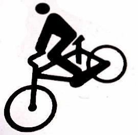 Dibujo de un hombre en bicicleta
