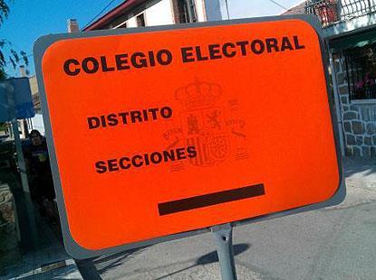 Cartel electoral en un colegio
