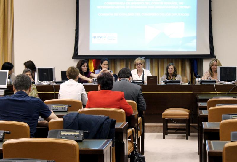 Imagen tomada durante una Comisión de Igualdad del Congreso