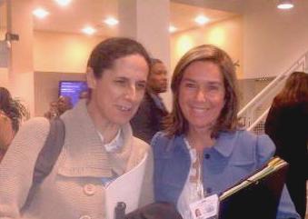 Ana Peláez, Comisionada de Género del CERMI junto a la Ministra Ana Mato