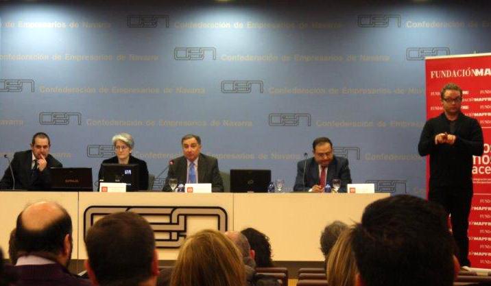El CORMIN firma un acuerdo sobre empleo con apoyo con el Instituto de Acción Social de la Fundación MAPFRE, el Servicio Navarro de Empleo y la Confederación de Empresarios de Navarra (CEN)