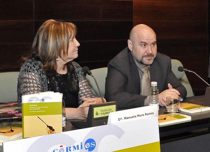 Manuela Muro, presidenta de Aspace Rioja junto al presidente del CERMI, Luis Cayo Pérez Bueno
