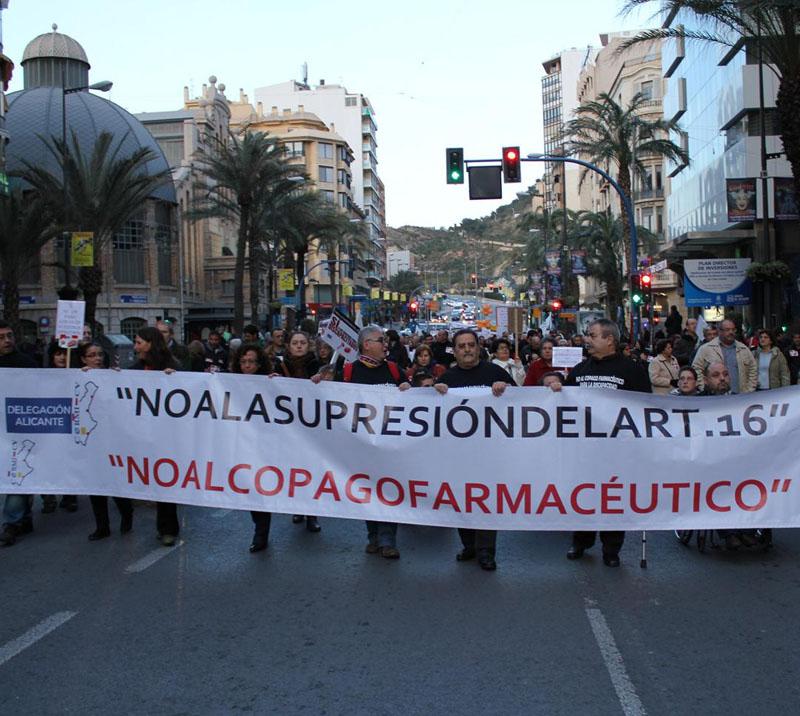 La Delegación del CERMI CV en Alicante reúne a 2.500 personas en contra del copago farmacéutico