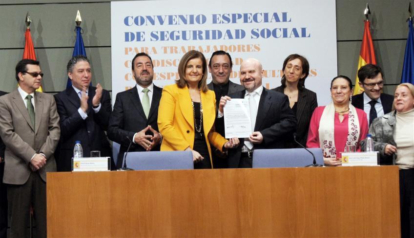 El Convenio Especial de Seguridad Social beneficiará a más de 34.000 personas con especiales dificultades de inserción laboral