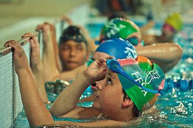 Chicos con mucho futuro en el Campeonato AXA de Promesas Paralímpicas de Natación (Madrid, febrero de 2012).