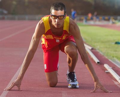 Preparados, listos... El paralímpico Joan Munar, entrenando en el Centro de Alto Rendimiento de Madrid, poco antes de los Juegos de Londres 2012