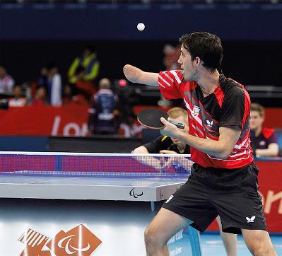 El tenis de mesa paralímpico, cada vez más cerca del olímpico. José Manuel Ruiz buscaba la medalla en Londres 2012