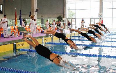 Natación ¿sincronizada? en el Campeonato de España paralímpico en Pontevedra, 2012