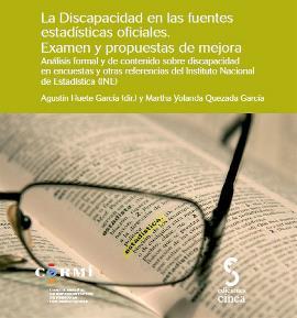"""Portada del libro """"La discapacidad en las fuentes estadísticas oficiales. Examen y propuestas de mejora"""""""
