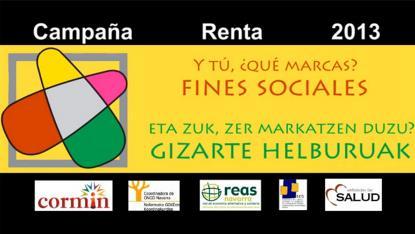 """Campaña """"Y tú qué marcas?"""", puesta en marcha por la Plataforma de Entidades Sociales de Navarra"""