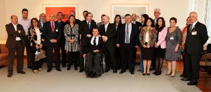 El CERMI con el Presidente de la Junta de Castilla y León